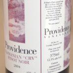 "Providence ""CRV"" Tasmanian Pinot Noir 375 mL 2004"