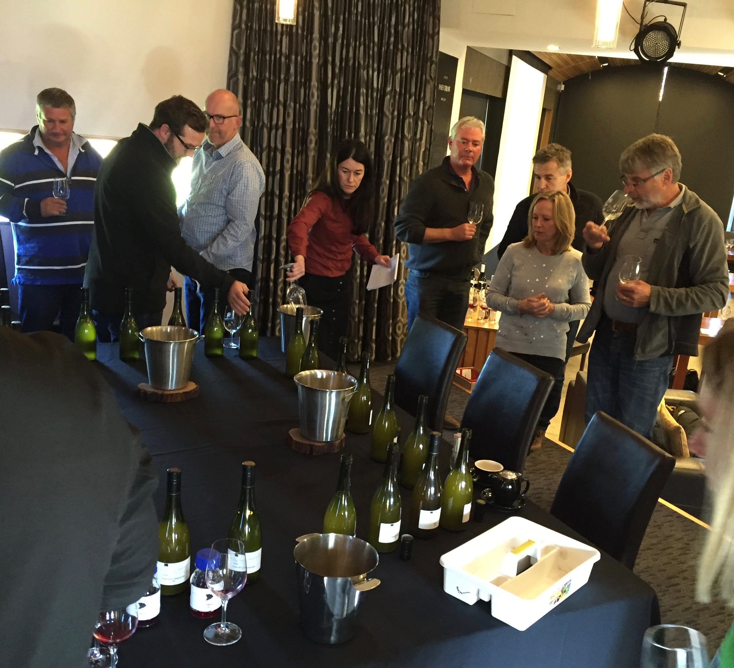 Growers taste samples of their 2016 aromatics