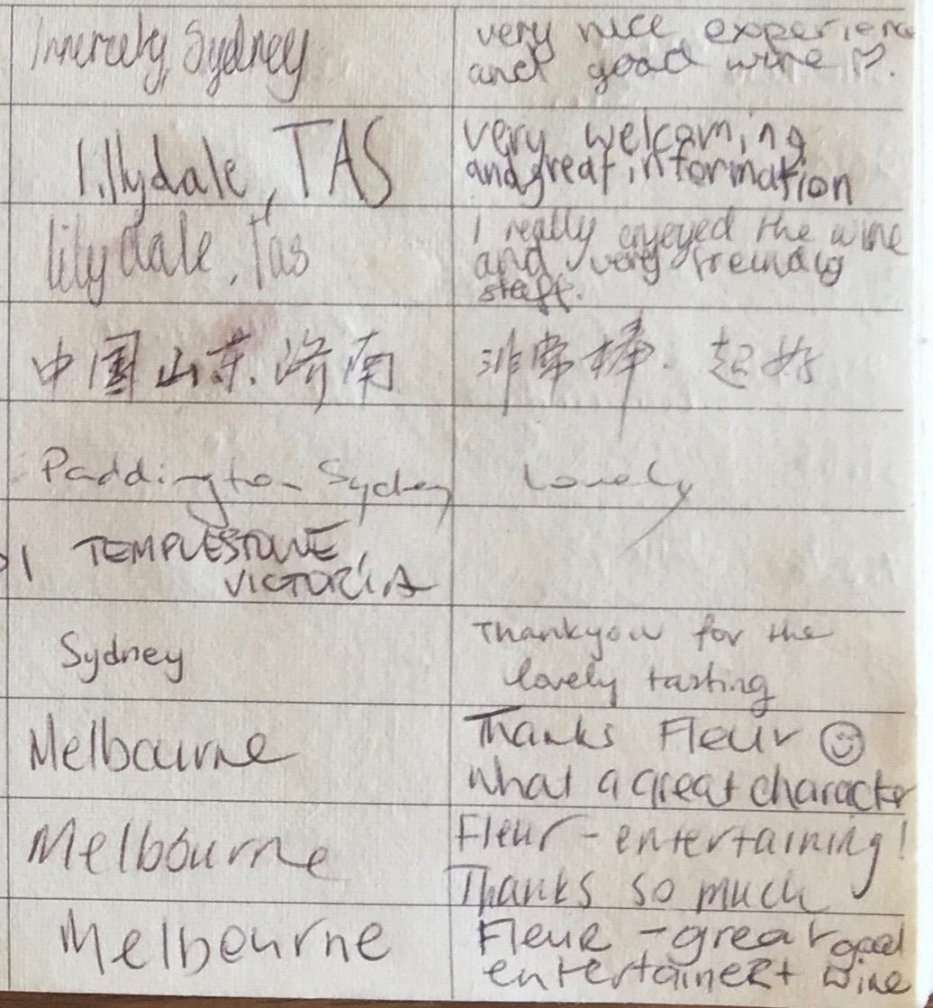 Providence Visitors Book